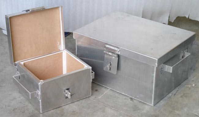 Two aluminum day boxes