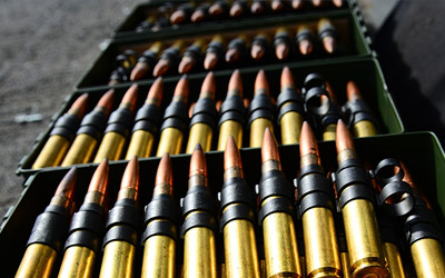 ammunition in boxes