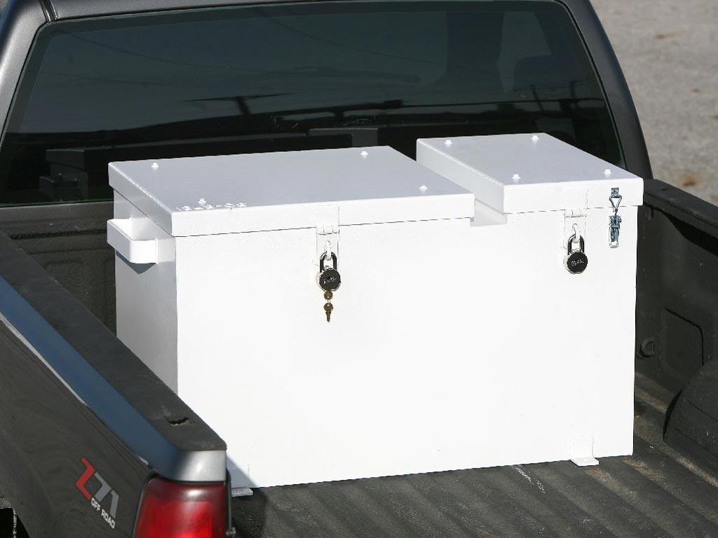 Combo explosives and detonators transportation truck box