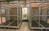 Containerized K9 Kennel side entrance