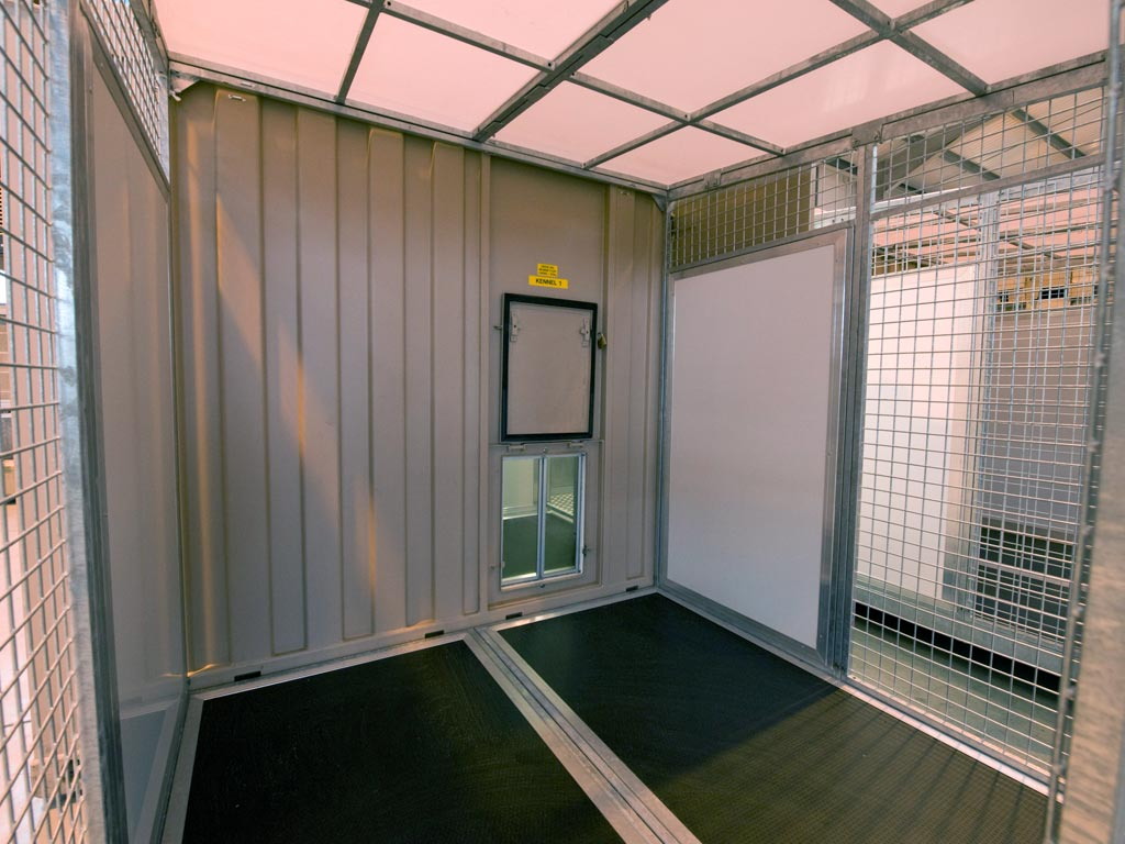 Containerized K9 Kennel exercise area