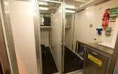 Containerized K9 Kennel interior kennels and food prep area