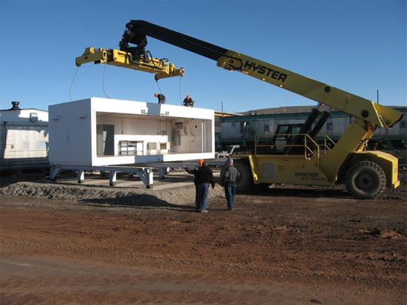 Duplex modular arms vault armory being installed