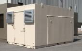 EMP shielded generator shelter exterior