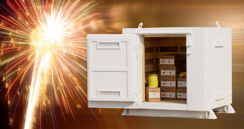Fireworks and pyrotechnic storage magazine