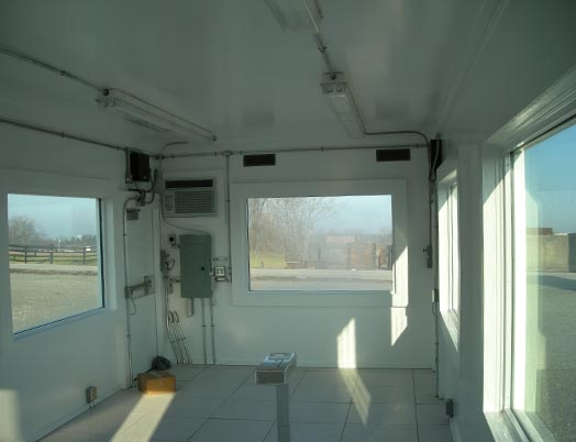 Interior of an Armag Security Post Building