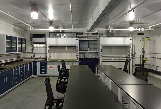 interior explosives inspection building
