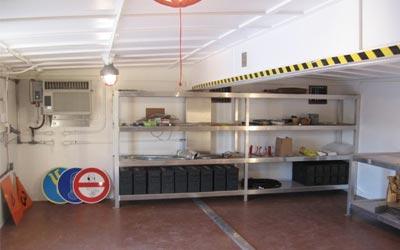 Ordnance building interior