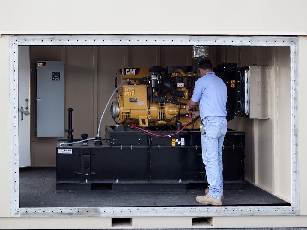 EMP shielded generator shelter interior