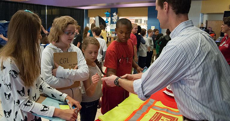 Kids at STEAM Fair