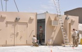 Multiplex arms vault armory being installed in Afghanistan