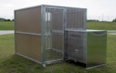 Modular K9 Kennel on grass