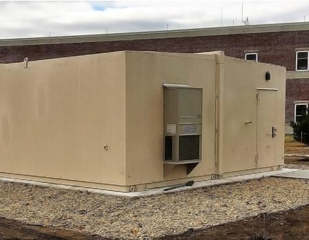 modular shielded generator shelter
