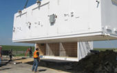 installation of Armag modular building