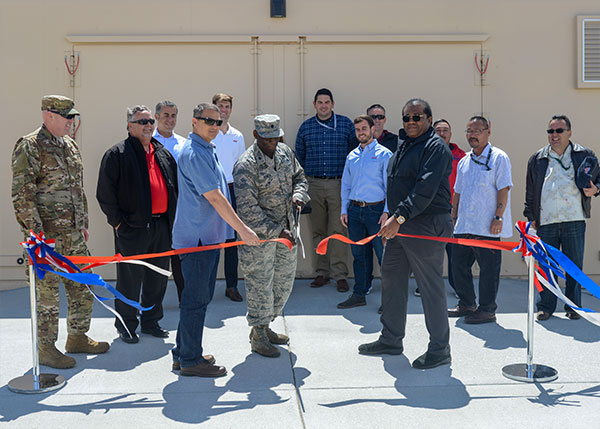 Ribbon cutting at Edwards Air Force Base munitions bunker