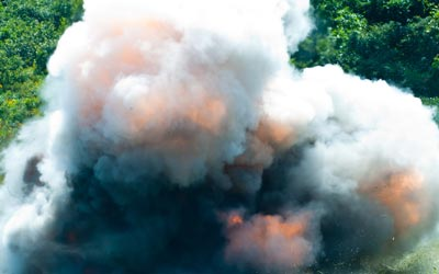 SAPER team explosives exercises